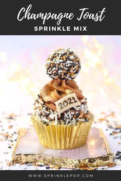 Ring in the new year with these black and metallic jimmies. We've added a little sparkle because New Years and glitter are perfect pair! #nye #newyears #toast #champagne #baking #sprinkles #desserts #resolutions New Year's Desserts, Delicious Desserts, Confectioners Glaze, Champagne Toast, Gum Arabic, Tree Nuts, Serving Size, Resolutions