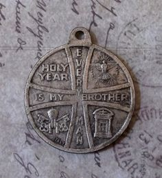 Vintage 1975 Holy Year Medal Vatican City Rome Italy, Every Man Is My Brother, Holy See & Spirit, Commemorative Medallion