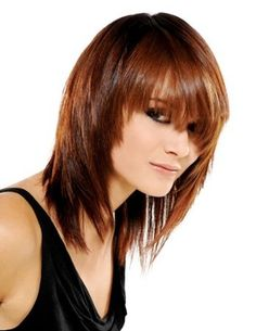 Fashion Medium Straight Layered Soft Real Human Hair Cheap Wig 14 Inches - All For Hair Color Trending Medium Layered Hair, Short Layered Haircuts, Medium Hair Cuts, Long Hair Cuts, Medium Hair Styles, Curly Hair Styles, Medium Brown, Razor Cut Hair, Wig Hairstyles