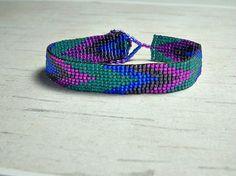 Bead Bracelet - Chevron Bracelet - Adjustable Bracelet - Womens Bracelet - Boho Style Jewelry - Gifts For Her - Hippie Bracelet