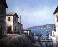 Por Amor al Arte: Valparaiso Ideas Para, Paintings, Littoral Zone, Painted Canvas, Water Colors, Paint, Painting Art, Painting, Drawings