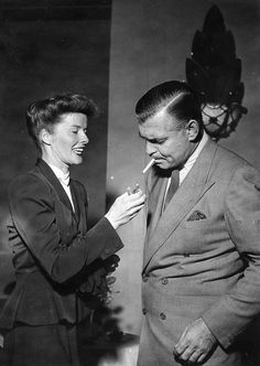 Katharine Hepburn and Clark Gable.  I wish they had done a film together.