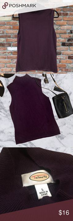 Talbots Deep Purple Turtleneck Sleeveless Sweater This is a sleeveless sweater by Talbots in great pre loved condition! Measurements laying flat: ( 25in length - 18in bust) Talbots Sweaters Cowl & Turtlenecks