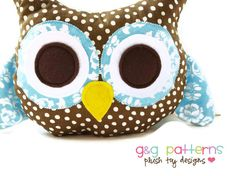 Owl Sewing Pattern - Owl Bookend Or Owl Pillow Pattern - PDF