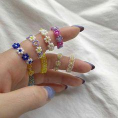 Cute Jewelry, Diy Jewelry, Jewelery, Jewelry Accessories, Handmade Jewelry, Jewelry Making, Jewelry Rings, Korean Accessories, Beaded Jewelry Designs