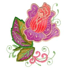 Free Embroidery Design: The Rose
