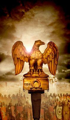 The-imperial-roman-eagle, or Aquila. Ancient Rome, Ancient History, Roman Armor, Roman Warriors, Roman Legion, Greek And Roman Mythology, Roman Soldiers, Carthage, Military Art