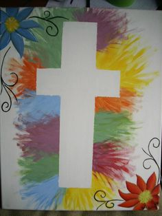 A cross I painted for my aunts condo in Orange Beach :)
