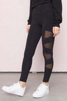 A cut above the rest - Side Mesh Legging   tunicsandleggingsforwomenWorthPinning Mesh Workout Leggings e705f1f5a89