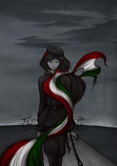 23rd October by MidnightArtDragon.deviantart.com on @deviantART - Erzsébet during the Hungarian Revolution of 1956
