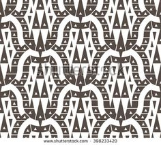 Seamless Geometrical Pattern for Textile Design. Abstract Black and White Vector Background with Triangles and Curve Shapes