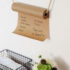 Kraft Paper Grocery List  {Kitchen Accessories}