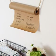 Kraft Paper Grocery List  {Kitchen Accessories}