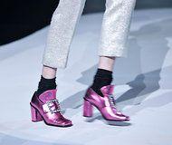 Marc Jacobs....pink Pilgrim shoes