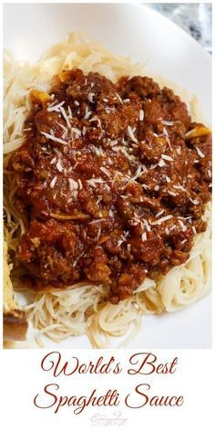spaghetti recipes The Best Spaghetti Sauce Ever from The Bewitchin Kitchen. This is the perfect sauce to accompany spaghetti or spaghetti squash - so good! Best Spaghetti Sauce, Spaghetti Recipes, Spaghetti Squash, Crockpot Spagetti Sauce, Best Pasta Sauce Recipe, Slow Cooker Spaghetti Sauce, Spaghetti Bake, Homemade Meat Sauce, Sausage Spaghetti