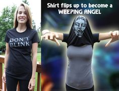 Don't+Blink++Doctor+Who+TShirt+Womens+by+AlpineStoneApparel,+$19.95  YESSSSS! This is way better than the T-rex one