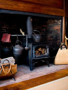 Wood Burning Stove Mantels Design, Pictures, Remodel, Decor and Ideas