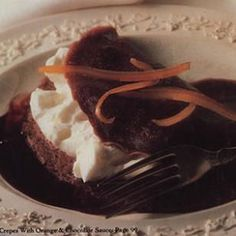 Chocolate Crepes with Orange-&-Chocolate Sauce Recipe