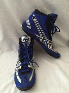 Asics Wrestling Mat Shoes Carl Sanderson Mens 12 Blue Silver JY700 | eBay