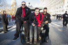 Jimmy, Kamal and Kirk pre-parade