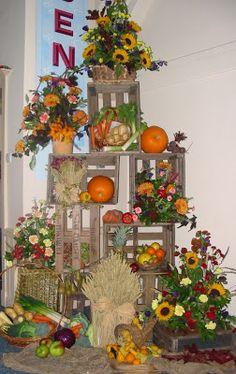 Vicki's Floral Art and Design Work: Harvest Festival 09