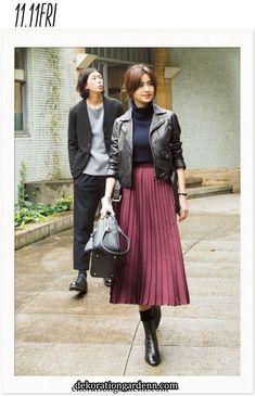 ファッション ファッション in 2020 Modest Outfits, Modest Fashion, Skirt Fashion, Stylish Outfits, Fall Outfits, Fashion Outfits, Womens Fashion, Fashion Trends, Japan Fashion