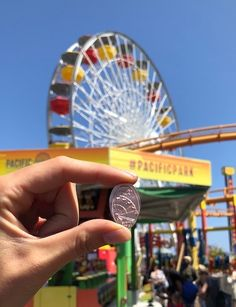 Pacific Wheel Penny Press City By The Sea, Amusement Park, Santa Monica, Solar Power, First World, Ferris Wheel, California, Beach, Travel