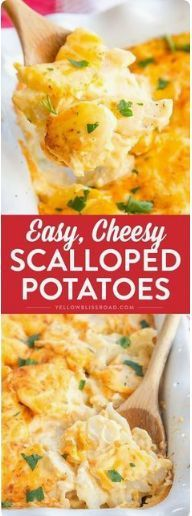 EASY CHEESY SCALLOPED POTATOES - Food Holic