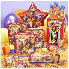 Madagascar 3 Birthday Express circus party pack