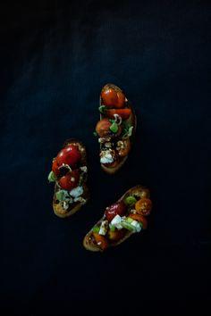 Mediterranean Bruschetta with a Raspberry Balsamic Reduction | The Transatlantic