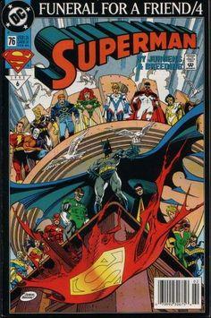 SUPERMAN #76  DC COMICS  FEBRUARY 1993  $1.25    Funeral for a Friend Part 4