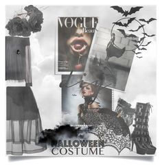 """Untitled #150"" by forever-different-one ❤ liked on Polyvore featuring Alice + Olivia, Simone Rocha, Rock 'N Rose, Pleaser, Remedios, halloweencostume and DIYHalloween"