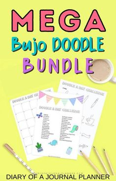 Become a bullet journal doodle pro with this MEGA bundle of doodle tutorials and step-by-step guides! #bulletjournaldoodles #doodling #howtodraw #printables Happy Doodles, Bujo Doodles, Cool Doodles, Easy Doodle Art, Simple Doodles, Bullet Journal Printables, Doodle Art Journals, Alcohol Markers, Drawing Skills