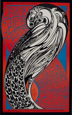 Wes Wilson | The Byrds at the Fillmore 3/31/67