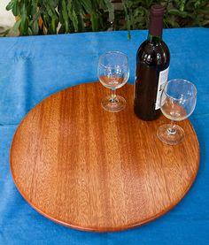 Mahogany Lazy Susan $135.00 See www.etsy.com/shops/CaarolinaMoulding