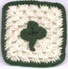 St Patrick's Day Granny Square | AllFreeCrochetAfghanPatterns.com