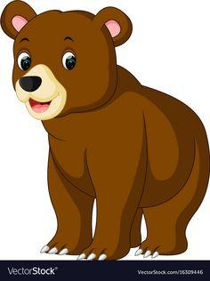 illustration of funny bear Cartoon. Bear Cartoon Images, Cartoon Pics, Cartoon Drawings, Cute Cartoon, Animal Drawings, Cartoon Bear, Art Drawings For Kids, Cute Drawings, Art For Kids