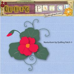 Nasturtium Cutting file in SVG GSD KNK formats @quillingpatch.com