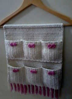 And Lovely Crochet Ideas With Knitting Patterns - Latest ideas information Crochet Kitchen, Crochet Home, Crochet Gifts, Free Crochet, Knit Crochet, Crochet Organizer, Crochet Storage, Crochet Flower Patterns, Knitting Patterns