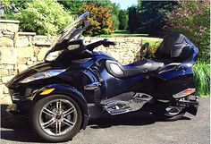 Our driver floorboards on a customer's Can-Am Spyder RT.