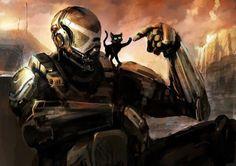 Halo Cat by Morriperkele on DeviantArt Halo 2, Halo Drawings, Halo Funny, Halo Armor, Halo Game, Achievement Hunter, Pokemon, Sci Fi Armor, Red Vs Blue
