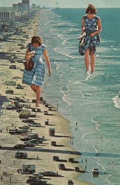 Walk on the Beach (Magazine collage. 2012) by SarahEisArt