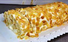 Γλυκό Ψυγείου με κρέμα και σφολιάτα - Syntages-matinas.gr Cream Patisserie, Greek Cake, Cake Recipes, Dessert Recipes, Greek Sweets, Sweets Cake, Pastry Cake, Party Desserts, Greek Recipes