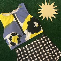 Abstract Floral Top $42.50 Gingham Bottoms $32.50 www.kingdomandstate.com