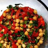 Portuguese Chickpea Salad with Roasted Garlic...recipe