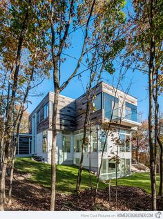 Gatineau Hills Residence: An Elevated Home for Delight
