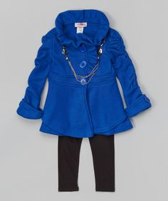 Love this Royal Blue Fleece Coat Set - Toddler & Girls by Citlali's Choice on #zulily! #zulilyfinds