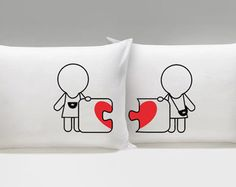 A Kiss for You™ Hers and Hers Couple by BOLDLOFT on Etsy