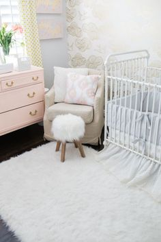 Feminine Nursery with Gold Accents - Project Nursery