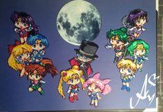 Sailor Moon Hama mini beads  by Awi87